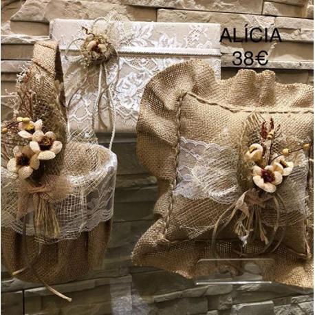 Modelo Alicia libro de firmas cesta arras cojin alianzas
